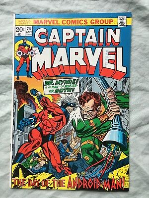 Captain Marvel #24 Marvel Comics Bronze Age 1973 No Reserve