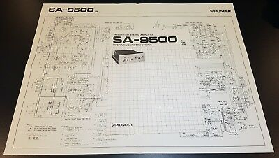 Pioneer SA-9500 Amp Operating Instructions Manual Schematic
