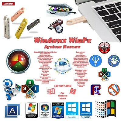 Windows WinPE Rescue Repair Backup  on 16gb USB