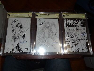 Grimm Tales of Terror Black & White Special Edition #1 CBCS 9.8 Signed 3x VIP
