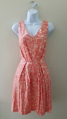 Modcloth Aglow with the Flow Dress NWT Sz 8 fits  4 coral metallic sheen Closet