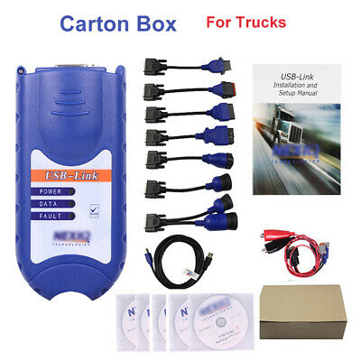 USB Link Heavy Duty Truck Scanner Tool Diesel Software With All Installers