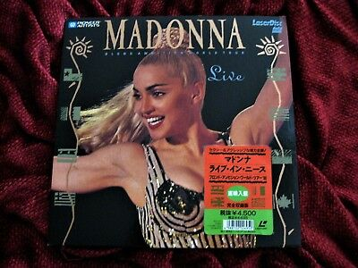Madonna BLOND AMBITION TOUR Laserdisc JAPAN ONLY Disc Set PICTURE HYPE PROMO