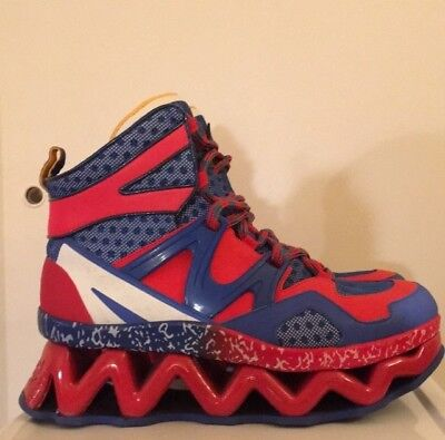 3dc5082557b3 Marc Jacobs Ninja Wave Platform High Top Red Blue Multi Sneakers WOMENS  Size 9