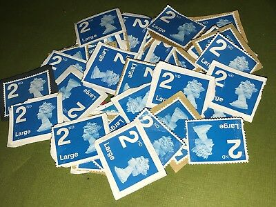 X50 2Nd Class All Security: Typ Stamps  Large Unfranked On Paper
