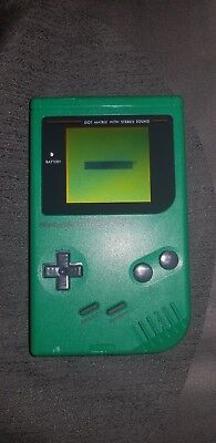 Gameboy Play It Loud! Green AMAZING CONDITION NEW SCREEN AND BATTERY COVER