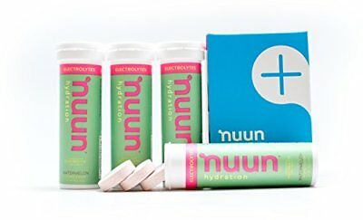 Nuun Hydration: Electrolyte Drink Tablets, Watermelon, Box of 4 Tubes (40 servin