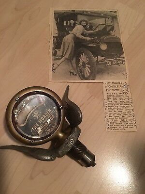 Vintage Ford Model A T Moto Meter Temperature Guage For Radiator Cap Hotrod Rat