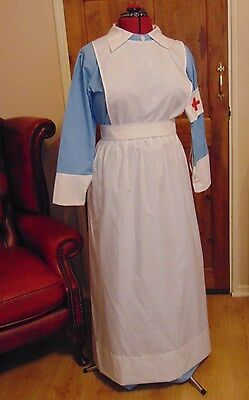 WW1 WW2 RED CROSS NURSE TYPE COSTUME NEW UNUSED has only been displayed on model