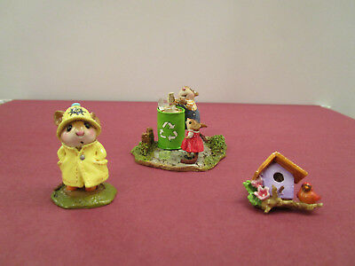 Wee Forest Folk M614z RELIABLE RECYCLERS, ATTENDEE PIN FTF '18, Sp APRIL SHOWERS