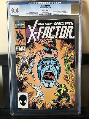 X-Factor #6 Cgc 9.4 - 1St Full Appearance Of Apocalypse