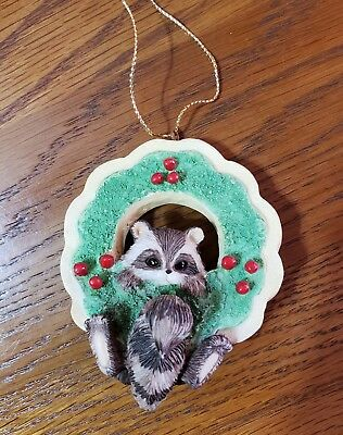 """Charming Tails """"CHRISTMAS COOKIE"""" RACOON CHRISTMAS ORNAMENT SILVESTRI"""
