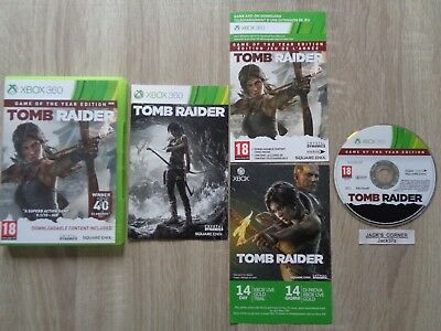 Tomb Raider Game Of The Year  Edition Xbox 360 + 9 DLC - 1st Class Free UK P&P