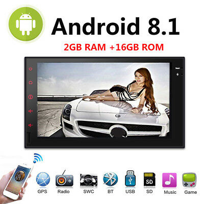 7'' Double 2Din Android8.1 Car Stereo GPS Wifi 4G Auto Radio BT NO DVD 2GB RAM