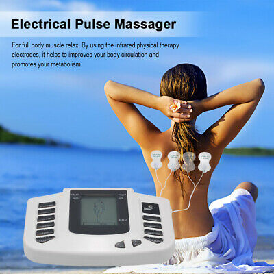 Electrical Stimulator Full Body Relax Muscle Therapy Massager Pulse Tens J7A7