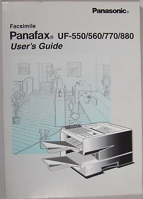 Panafax UF-550/560/770/880 Fax Machine User's Guide (1997)