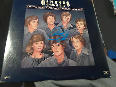 Donny And Marie Osmond Signed Autographed The Osmonds Greatest Hits Album Rare
