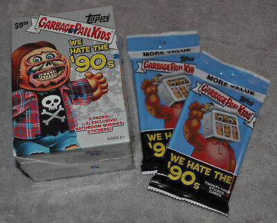 Garbage Pail Kids We Hate the 90s LOT of Blaster Box / Fat Packs 2019 Rare Topps