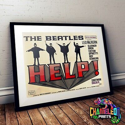 Beatles Help Poster Print In A3 A4 The Beatles