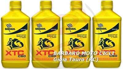 4 LT. motorcycle engine oil BARDAHL XTC C60 10W50 Synthetic IDEAL FOR GEAR SOFT