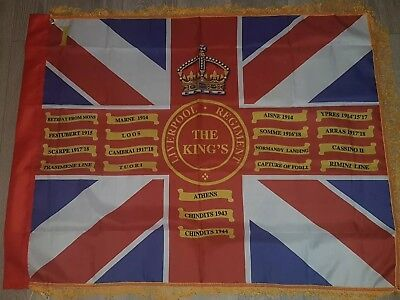 The King's Regiment (Liverpool)1st Bn Kings Colours flag