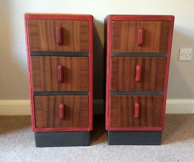 Pair of 1930's / Art Deco Bedside Cabinets.