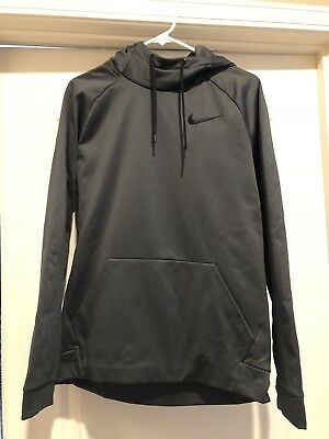 980afc0d04ce NIKE THERMA TRAINING Hoodie Mens 826671-010 Black Dri-Fit Pullover ...