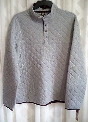 Nwt Merona Mens Quarter Zip Fleece Knit Long Sleeve