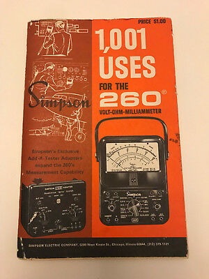 Simpson 1001 Uses for the 260 Volt-OHM Milliammeter - 1965