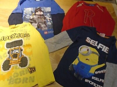 Boys bundle of tops and T shirts age 6 - 7 years, inc Lego, Minions, John Rocha