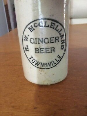McClelland Townsville ginger beer - rare damaged top (relisted due to non payer)