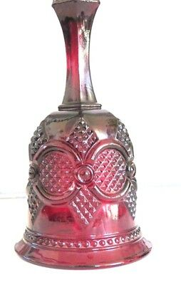 Vintage Avon 1876 Cape Cod Collection Ruby Red Glass Hostess Bell Free Shipping
