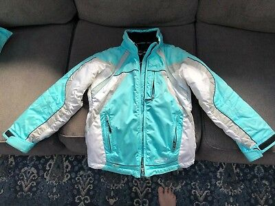 Girls Obermeyer Paradise Ski Snow Winter Jacket Sz 12 Juniors w/detachable hood