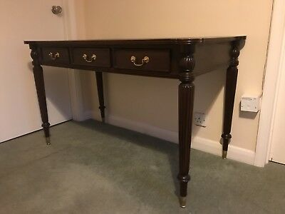 Beautiful Shaped Writing Desk With Lovely Carved Decorative Corners.