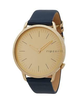 RIP CURL SUPER SLIM LEATHER WATCH GOLD 18K Womens Surf RRP$179.99 NEW +FreeExp