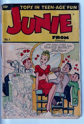 Golden Age Comic~Junie Prom Comics~#1 Winter~1947~Poor Condition~Complete