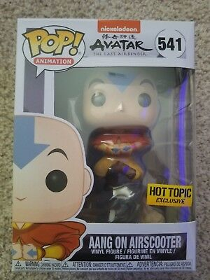 Funko Pop Avatar the Last Airbender Aang on airscooter Hot Topic exclusive NEW