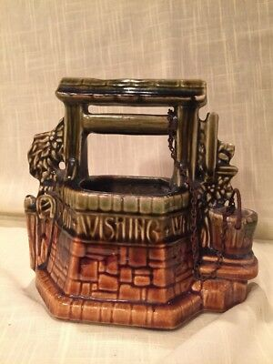 Vintage Wishing Well Planter McCoy Pottery USA Art 1950's excellent cond. Signed