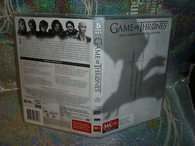 Game Of Thrones The Complete Third  Season (5-Disc) (Dvd, R 18+) (142927-5 K)