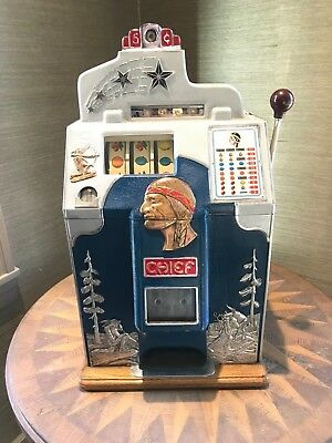 1937 Antique Jennings Silver Chief 5 Cent Slot Machine - Beautiful Restoration