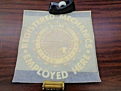 rare vintage lincoln mercury registered mechanic employed here window decal