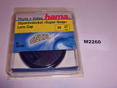 Hama 58Mm 58 Mm Snap-On - Centre Pinch Cap - Mint