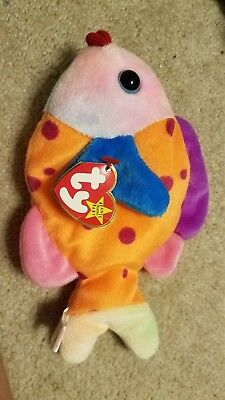 Mint ~ Ty Beanie Baby Babies ~ LIPS the FISH ~ 1999 ~ MWMTs ~ Plush ~ Retired