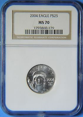 2004 American Eagle $25 1/4 oz Platinum Coin NGC Graded MS70
