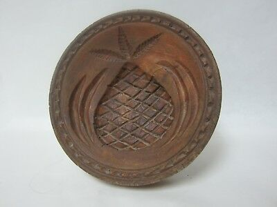 Antique Large Hand Carved PINEAPPLE BUTTER PRINT
