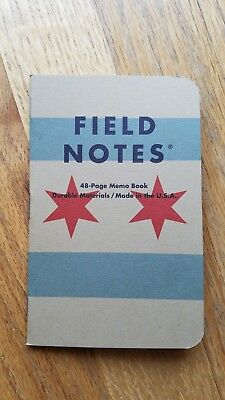Field Notes Chicago Graph Paper, 1 New Memo Book Only, Free Ship