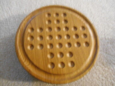 Levenger Marble and Card Wooden Solitaire Games (collectible)