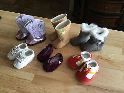 Lot Of 3 Pair Of American Girl Shoes And 3 Pair Of Others