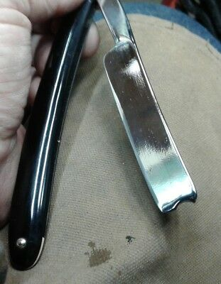 "Nice Little Vintage James Rodgers Sheffield Straight Razor 5/8"" Etched, Wedge"