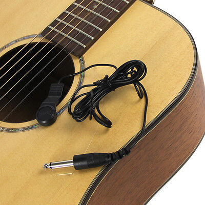 Violin Pickup Acoustic Ukulele Tuner Electric Cable Guitar With 1/4 Inch Plug